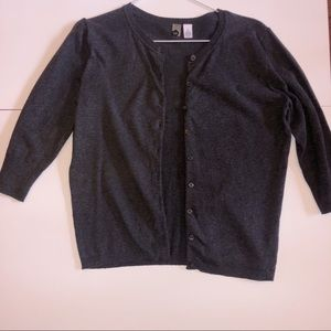 Nordstrom | Charcoal Grey 3/4 Length Cardigan